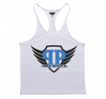 POWER PROTEIN - TANK TOP HARDCORE - white + Gratis wristband
