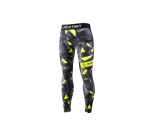 Live and Fight  - MEN'S LEGGINGS - ATHLETIC CAMO Lime