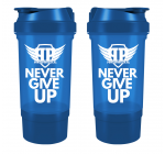 Power Protein shaker + pojemnik Never Give Up [black] 500ml
