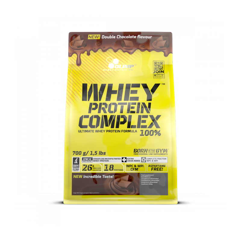 olimp whey protein complex 100 double chocolate 700g. Black Bedroom Furniture Sets. Home Design Ideas