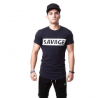 SAVAGE Men Fit Style T-Shirt - DARK BLUE