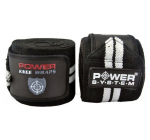 Power System - Taśma wzmacniająca kolano Power knee wraps - 1para