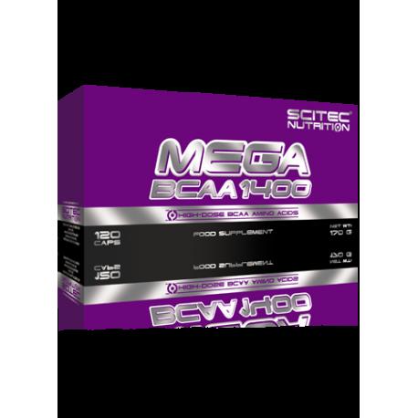 Scitec Mega BCAA 1400 - 120 kaps.