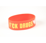 Opaska na reke - F*CK DRUGS GO TO GYM