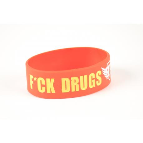 Wristaband - F*CK DRUGS GO TO GYM