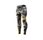 Live and Fight  - MEN'S LEGGINGS - ATHLETIC CAMO Black