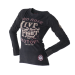 Live and Fight - LADIES LONGSLEEVE TEE - ROSE SKULL