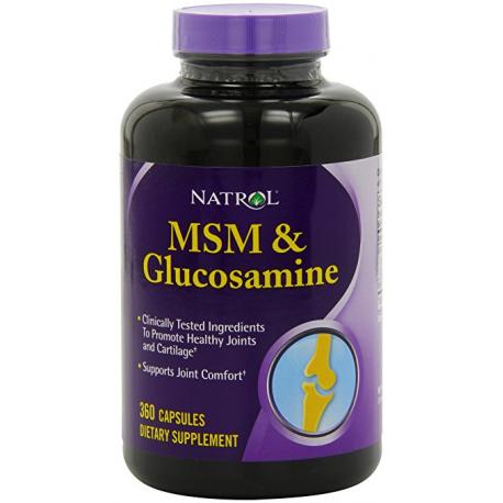 NATROL - MSM & Glucosamine 360 caps.