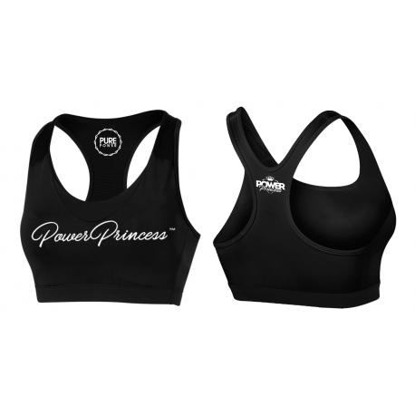 PURE POWER - Power Princess - Sport BRA - Black