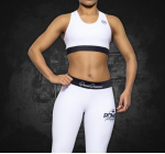 SPORT BRA - POWER PRINCESS WHITE/BLACK