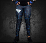 PP - Sports Wear - LEGGINS - POWER PRINCESS - Green/BLUE