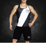 TANK TOP Compression Black/White UNISEX