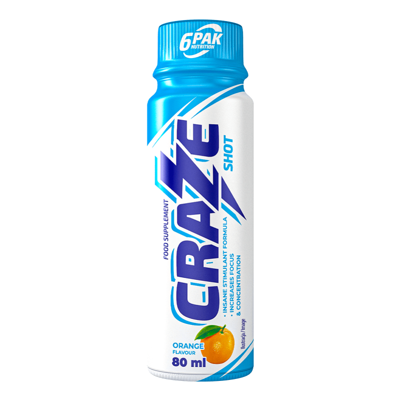 6pak - CRAZE SHOT - 80ml - PowerProtein