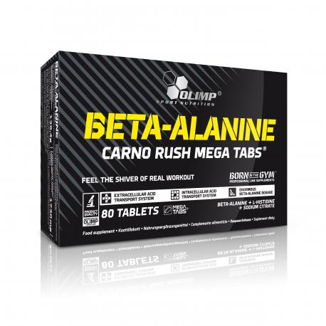 Olimp - Beta-Alanine Carno Rush Mega Tabs - 80tab